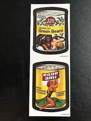 2018 Lost Wacky Packages VARIATIONS DOUBLE TAN Ape / Bone Ami #3/5