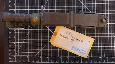 RARE US Military Issue & Inspected w/ Tag! M9 Bayonot Knife and Scabbard