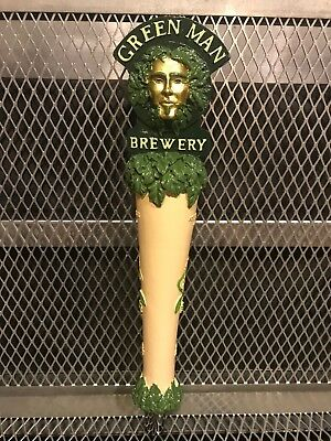 GREEN MAN BREWING Co Asheville NC ~ Figural Head ~ Blank ~ Beer Tap Handle 420