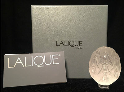 NEW Lalique Crystal Egg Figure Cigales New in Original BOX in Mint Condition