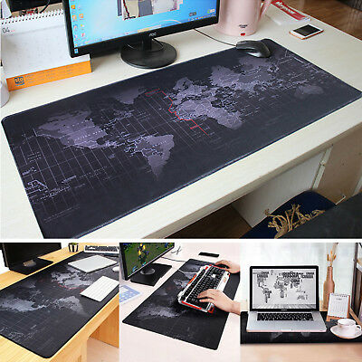New Large Mouse Pad Extended Gaming XXL 800x300mm Big Size Desk Mat Black