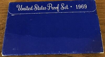 1969 US Coin Proof Set 40% Silver Kennedy Half