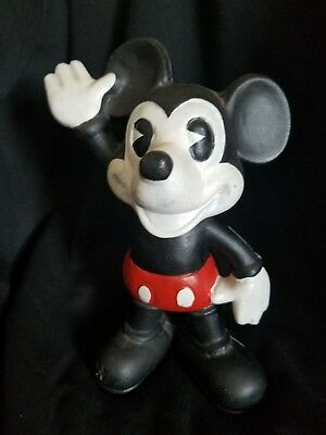 Vintage Mickey Mouse  Cast Iron Coin Bank
