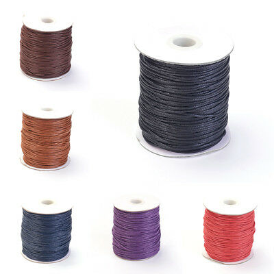 100yds/Roll Waxed Cotton Threads Round Beading Threads String Cable Spool 1.5mm