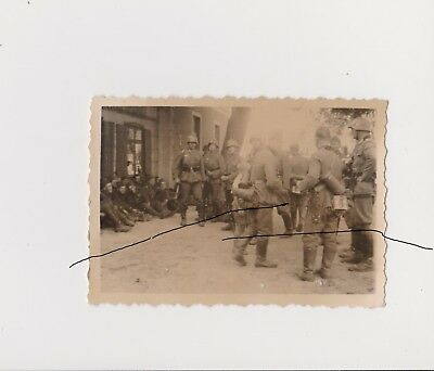 Old Poland Photo Original WWII Polish POW at Chojnice (Konitz) Polska. Wojna