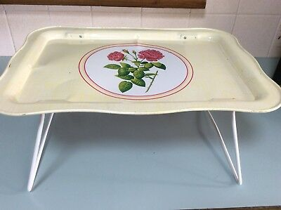 WILLOW VINTAGE BED TRAY Roses Retro Good Condition