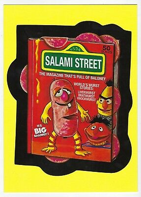 2018 Lost Wacky Packages 4th Series UNCUT CHECKLIST PUZZLE: SALAMI STREET nm+