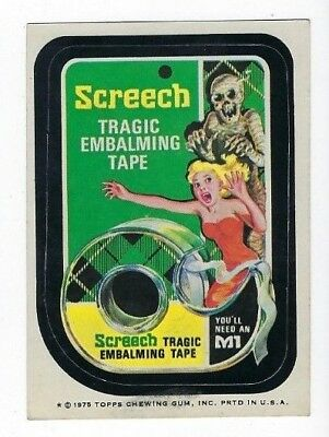 1975 Topps Wacky Packages 13th Series 13 SCREECH TAPE tb ex