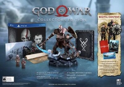 God of War Collectors Edition- No Game, No Steelbook- other items new, PS4 2017