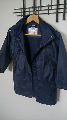 Pumpkin Patch Blue Rain Jacket Sz 7
