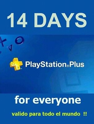 14 DAYS PlayStation PS PLUS PS4-PSvita - SENT NOW !!