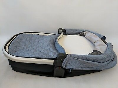 uppababy 2017 bassinet Henry Blue marl