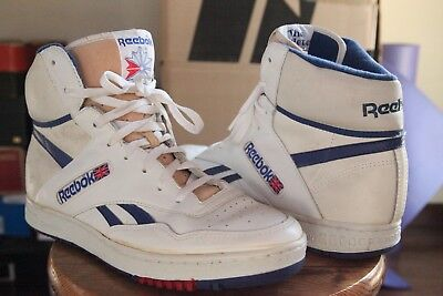 b342d4edccb Reebok BB4600 Hi White And Blue Size 11.5 Vintage Retro OG Basketball White  Blue
