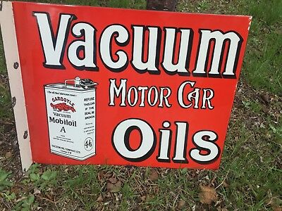 Vacuum Mobil Oil Enamel Sign Double Sided