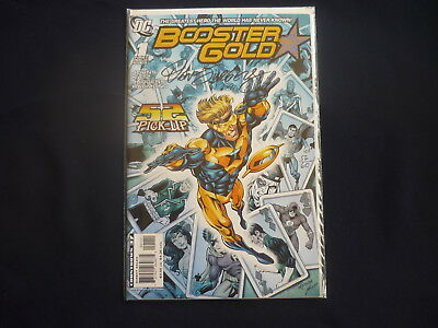 Booster Gold #1 signed by Dan Jurgerns with Certificate (b9)