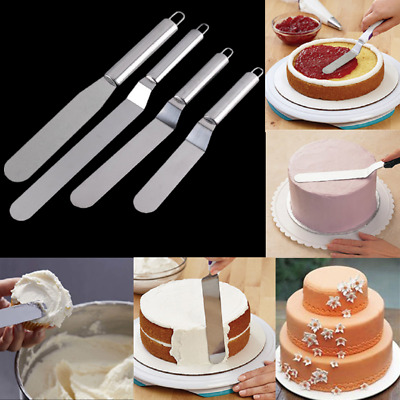 Stainless Steel Cream Cake Spatula Icing Butter Handle Knife Smoother Cake Decor