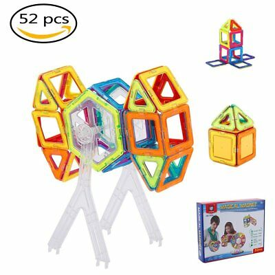 52Pcs All Magnetic Building Blocks Construction Children Toys Educational Block