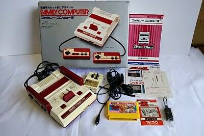 Nintendo Famicom NES HVC-001 Console,RF Switch,Manual,Boxed Game set tested-a72-