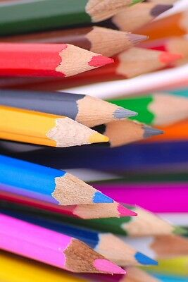 36 x COLOURING PENCILS IN MIXED COLOURS GREAT FOR ART HOME OR SCHOOL