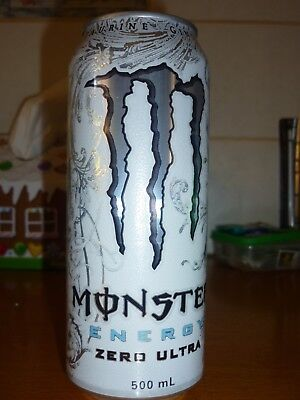 Collectable energy drink cans - Monster Energy Zero Ultra 500ml can