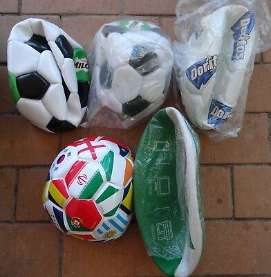 Bulk Lot Of Advertising Items Soccer Balls-Trading Cards-Stickers Etc
