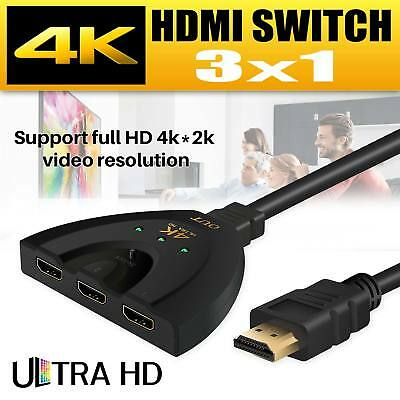 1080P 4K HDMI Port Male to 3 Female 1 In 3 Out Splitter Cable Adapter Converter