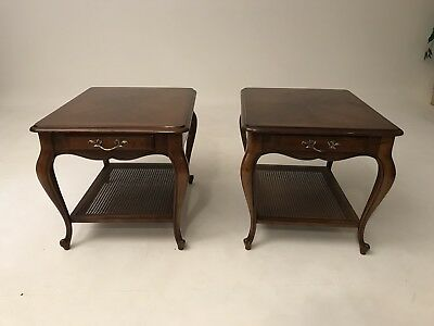 Pair Of Antique Reprduction Side Tables  By Drexel