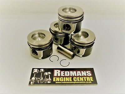 Ford Mondeo 1.8 TDCI pistons x4 Duratorq 82.5mm bore 2005- transit connect/smax