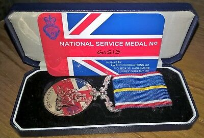 National Service Medal with box, perfect condition, dates from 1949