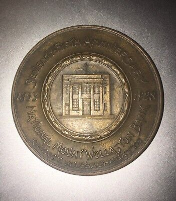 Mount Wollaston Bank 1853 - 1928 75th Anniversary Trivet Quincy MA