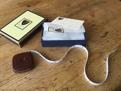 Aspinal Of London Leather Retractable  Tape Measure Boxed New Gift
