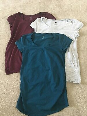 Bundle Of Short Sleeve H&M Maternity Tops. Size M. Good Condition.