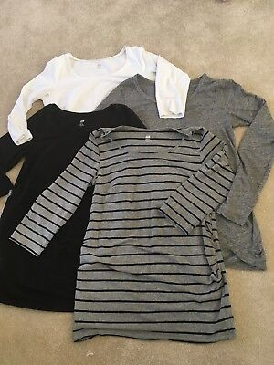 Bundle Of Long Sleeve H&M Maternity Tops. Size M. Good Condition.
