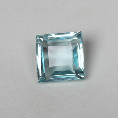 23.90 Ct Natural Aquamarine Greenish Blue Color Square Cut Loose Certified Gem