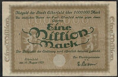 Elberfeld, Stadt. 45: 1.000.000 (1 Million) Mark 1923