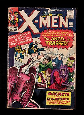 X-Men 5 Kirby Stan Lee 3rd Magneto 2nd Scarlet Witch Quicksilver
