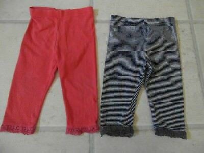 2 x PAIRS BABY GIRLS STRETCHY LEGGINGS  Age 9 - 12 Months from MARKS & SPENCER