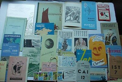 28 Assorted Travel Brochures, Books, Maps, and Miscellaneous Items