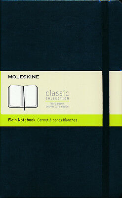 Moleskine Classic Collection Black Plain Journal Notebook Hard cover NEW