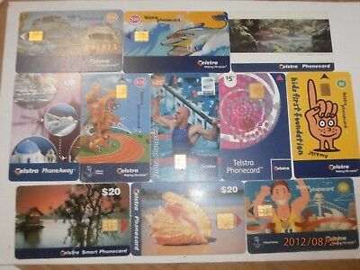11x TELSTRA PHONECARD SMART CARD LOT BULK HOLDEN SHELL OLYMPICS 2000s -FREE POST
