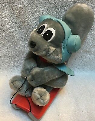 "Adventures Of Rocky & Bullwinkle Christmas Rocky Sledding Plush Toy 10"" Inches"