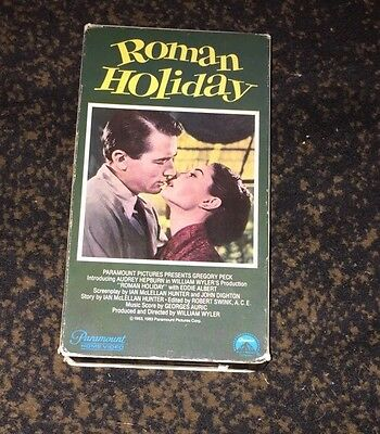 Roman Holiday VHS Gregory Peck & Audrey Hepburn Movie Video