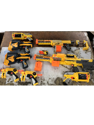Large Lot of Nerf Playtime Guns Used