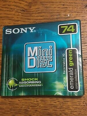 Sony  Mini Disccolor  Collection Emerald Green 74 Minutes