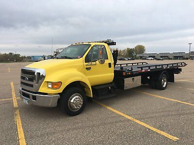 2007 Ford F650 Rollback Side Puller Air Ride Wrecker