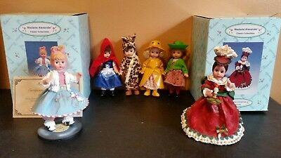 Madame Alexander Classic Collectibles 1950 Sock Hop Victorian Christmas Lot of 6