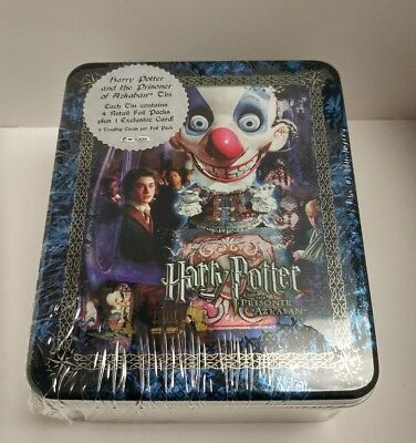"Harry Potter & the Prisoner of Azkaban Tin with trading cards ""Clown Face"" - 4pk"