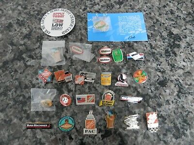 Huge Lot of Home Depot Lapel Apron Pins Rare Vintage Used & New