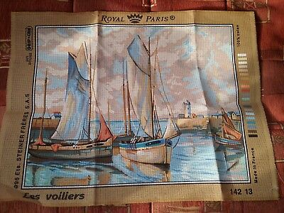 New Royal Paris Tapestry canvas boat scene called les voiliers