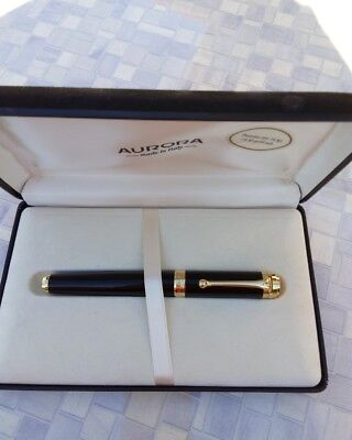 Aurora Talentum Black & Gold Fountain Pen Gold Nib 14K